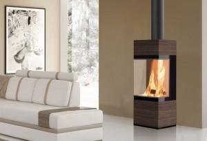 edilkamin po le bois coral 3 flammes de jade. Black Bedroom Furniture Sets. Home Design Ideas