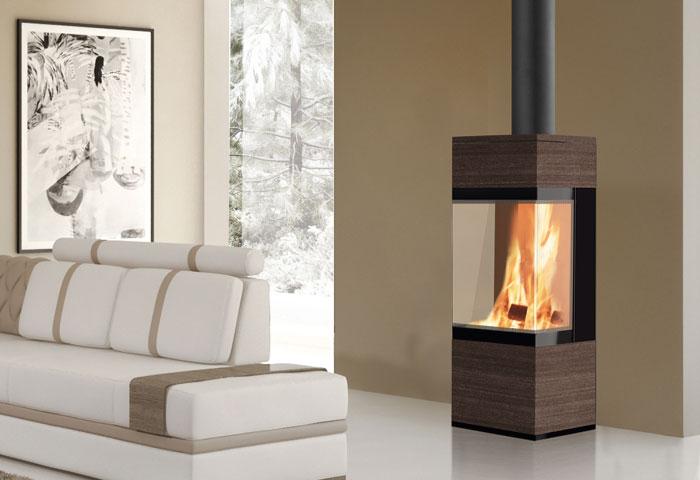 edilkamin po le bois coral 3 flammes de jade po le chemin e thermopo le bois. Black Bedroom Furniture Sets. Home Design Ideas