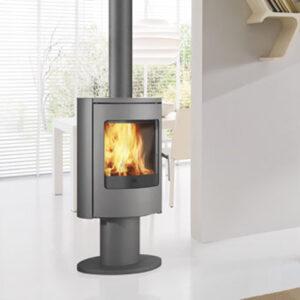 edilkamin po le bois deluxe flammes de jade po le chemin e thermopo le bois. Black Bedroom Furniture Sets. Home Design Ideas