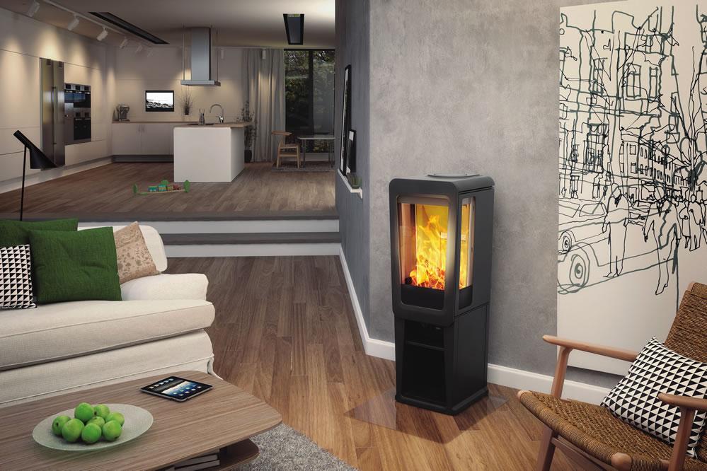 fonte flamme k 800 sur socle compatible bbc flammes de jade po le chemin e. Black Bedroom Furniture Sets. Home Design Ideas